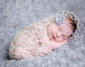 The Bowl/Wrap: IVORY COLOR- Newborn Photo Prop