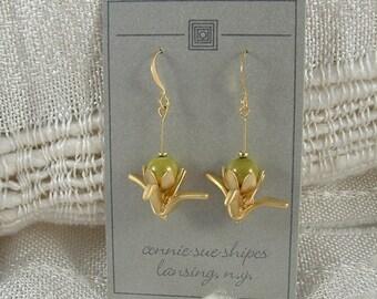 Oragami-like Crane Earring