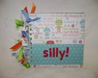 SILLY 6x6 Chipboard Scrapbook Album - PREMADE