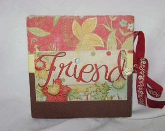 FRIENDS Star Mini Scrapbook Album - PREMADE