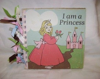 I Am A PRINCESS 6x6 Chipboard Mini Scrapbook Album - PREMADE