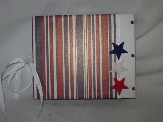 American 4th OF JULY Star Mini Scrapbook Album - PREMADE
