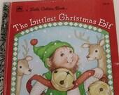 Vintage Little Golden Book - The Littlest Christmas Elf - 1987