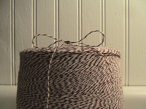 Baker's Twine in Cocoa Brown and White Stripe-10 Yards