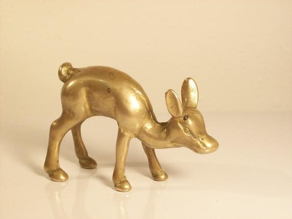 Vintage Brass Deer Figurine
