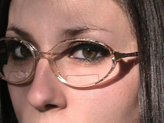 Vintage Luxottica Eye Glass Frames - Perfect -  tortoise shell-gold-lucite - Made in ITALY
