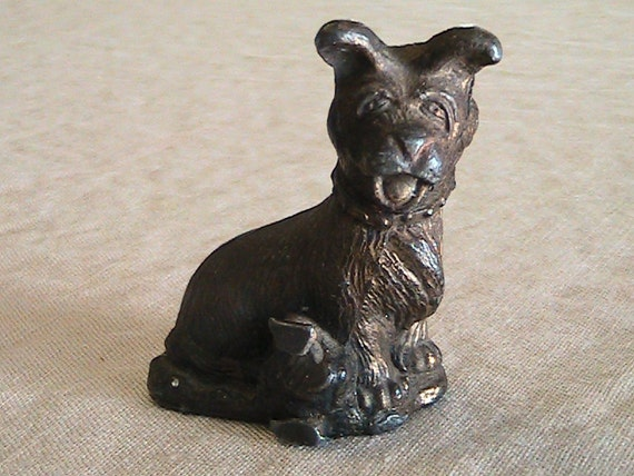 Vintage Cast Metal Goofy Dog - Funny Face / Character / Mid Century / Mans Best Friend