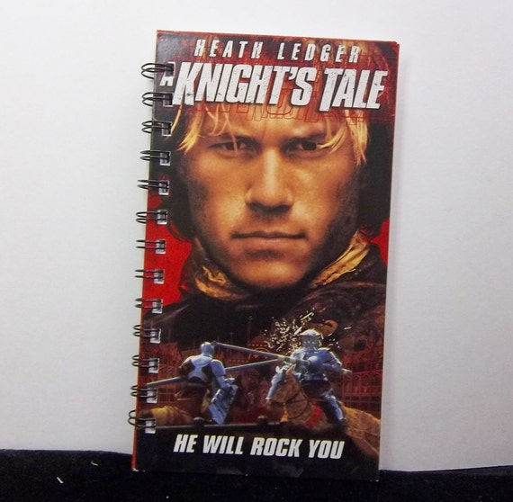 Recycled Notebook From Knight's Tale VHS Box Handmade