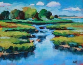 RESERVED Marsh, Original Oil Painting