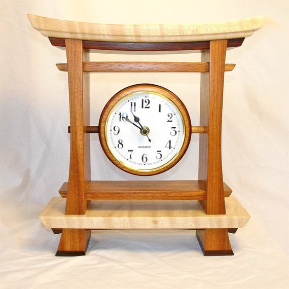 Torii Gate - Zen/Asian Style Exotic Wood Clock