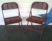 Mid-Century Metal Folding Chairs