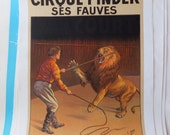 French Circus Poster - Lion
