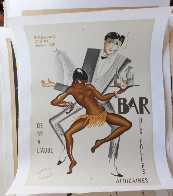 Items similar to Vintage Josephine Baker Poster on Etsy