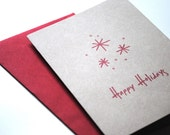 happy holidays eco-friendly greetings - set of 20