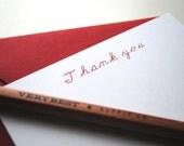The Perfect Teacher's Gift: Set of 12, Personalized Teacher Notecard Set, Custom Teacher Stationery, Teacher's Gift