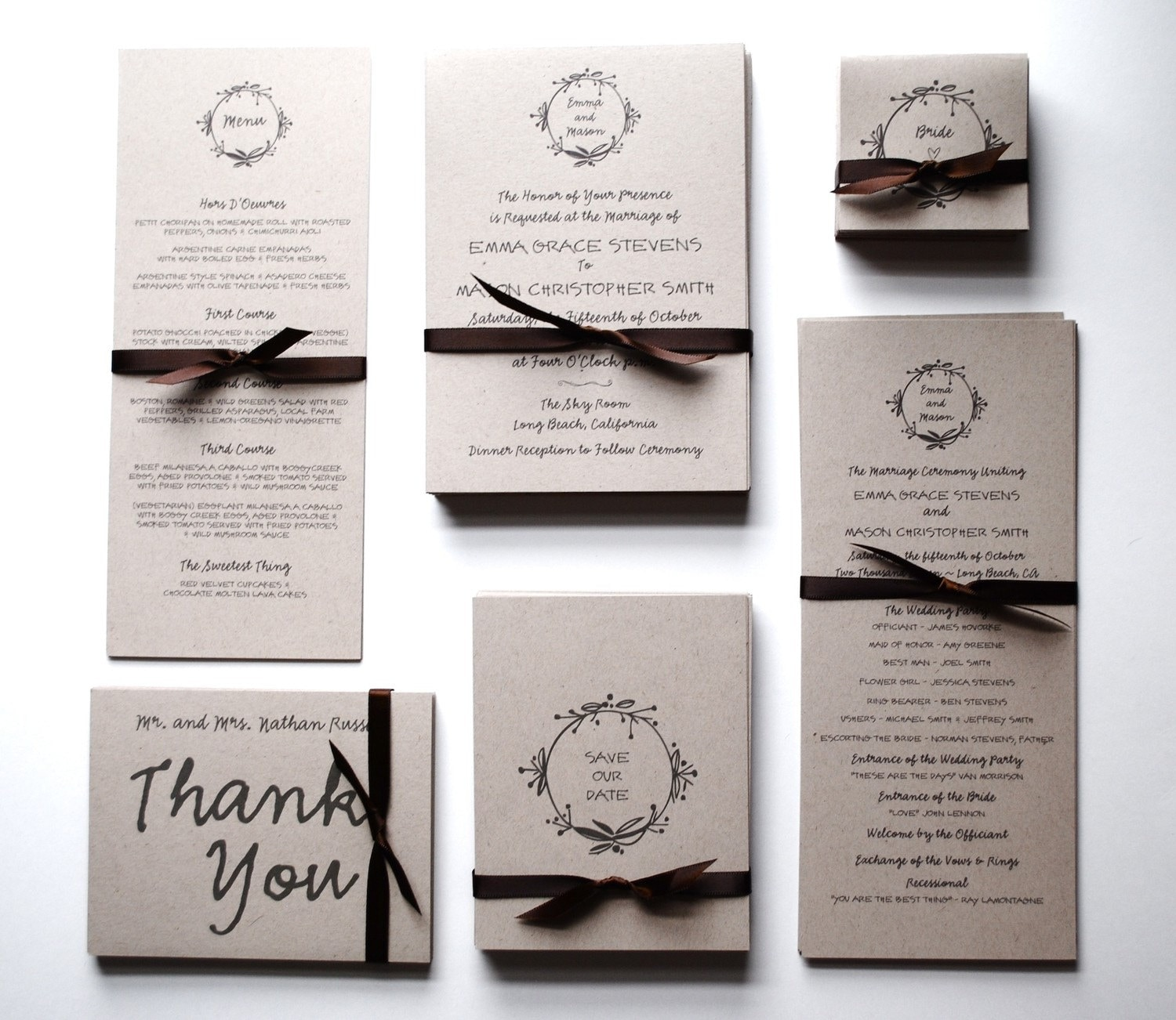 wedding invitations & rsvp postcards: earthy and economical, Wedding invitations