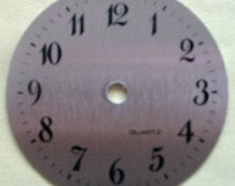 3-5/8 in. Brushed Brass Arabic Clock Dial - NEW - SOLID BRASS