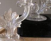 Vintage  crystal candelabra  1950s to 70s