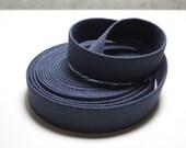 1 1\/4 Inch Cotton Belt Webbing in Navy Blue