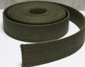 1 1\/4 Inch Cotton Belt Webbing in Olive