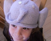 Angora Elephant Baby &Toddler Hat PATTERN