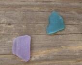 RARE COLORS - 2 Pieces of Genuine Sea Glass