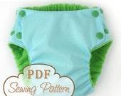 Trimsies Diaper pattern - Cloth diaper printable PDF sewing pattern