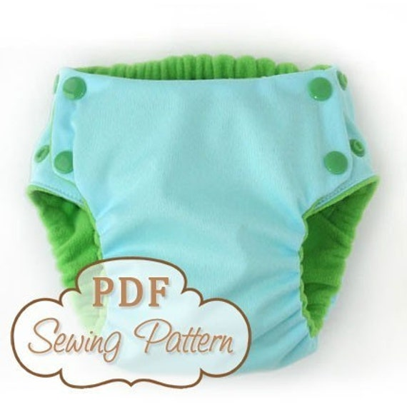 Trimsies Diaper pattern - Cloth diaper printable PDF sewing pattern