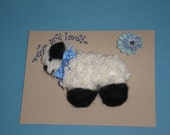 Needle Felted-Lamb Fiber Art Magnet-Sheep Magnet-Felted Sheep Magnet Decor-Handmade Magnet-Gifts-Stocking Stuffer-Refrigerator Magnet