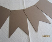 Pennant DIY Chipboard Banner Blanks -  Banner Shapes for Decorating-Unfinished Banners for Parties