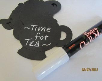 White Chalkboard Markers- Chalk Pen-Bistro Chalk Marker for writing on Vinyl Chalkboard-Glass Marker-Dry Erase