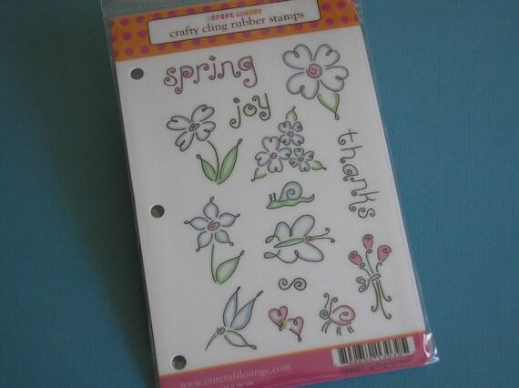 Spring Garden Cling Rubber Set-New Stamp Set-Flowers-Garden-Floral