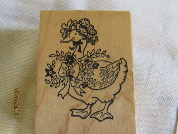 Vintage Granny Goose Rubber Stamp -PSX