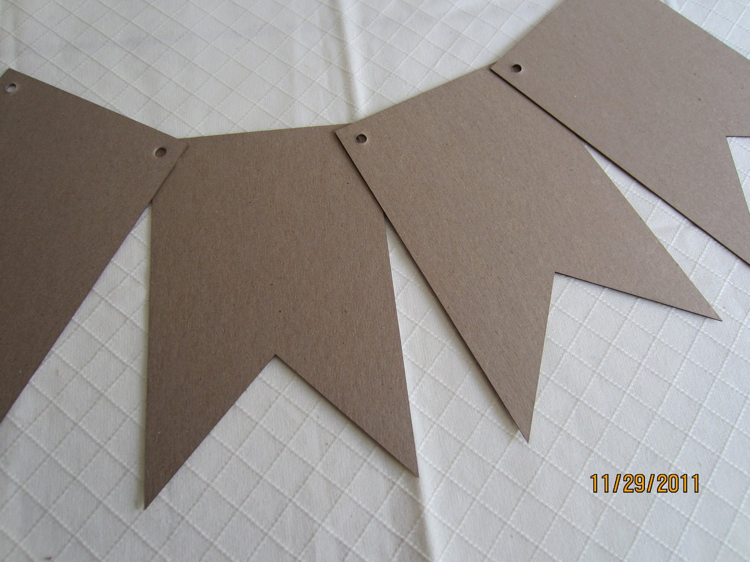 Pennant DIY Chipboard Banner Blanks-5 x 8 Banner Shapes for