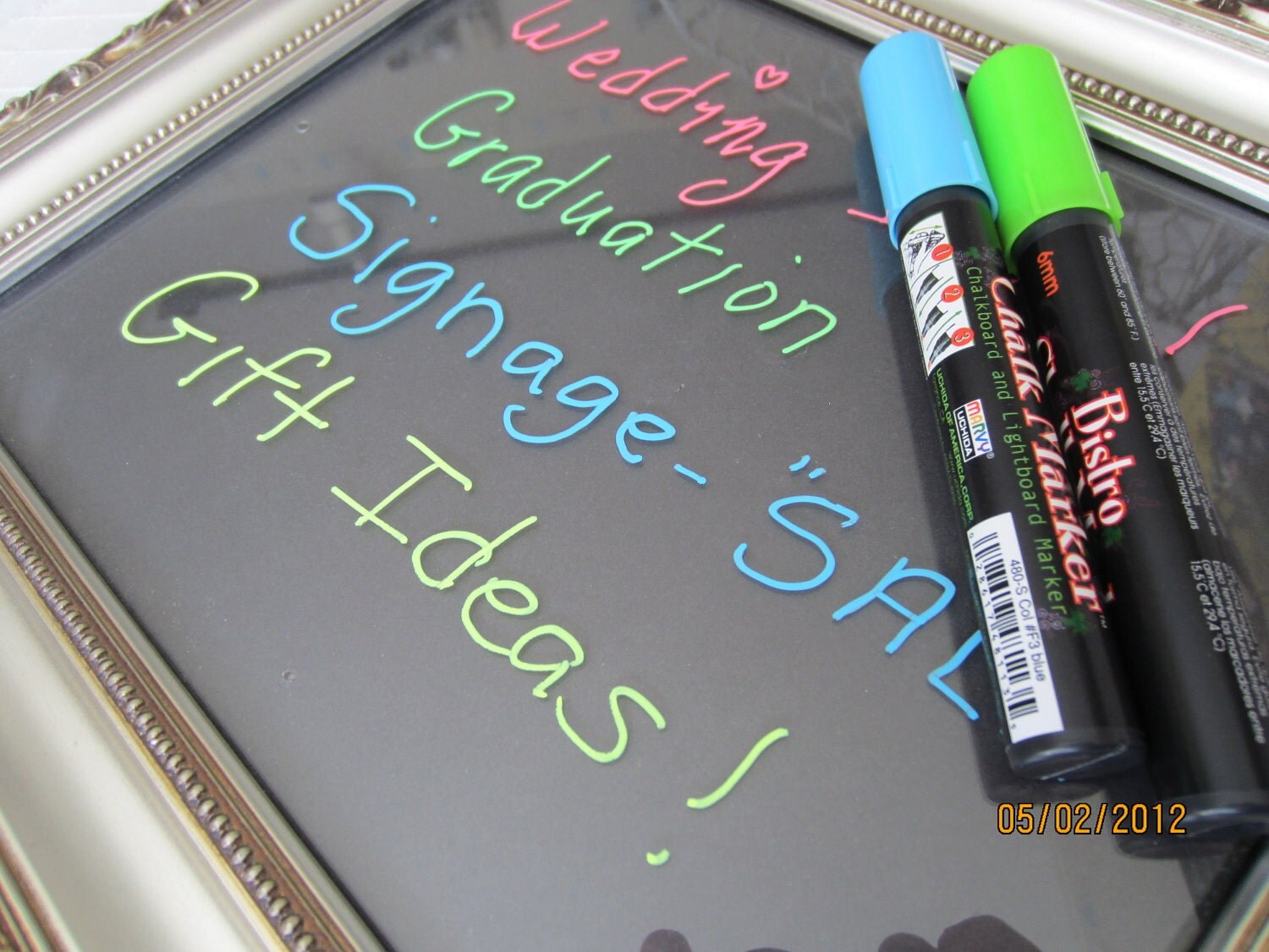 Fluorescent Blue Chalkboard Markers by PearCreekCottage on