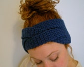 Braided Headband Blue