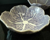 Pair of Purple Cabbage Leaf Dishes