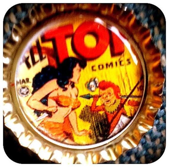 CLEARANCE-Top Comics  bottle cap magnet