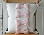 Lots of puffy bows pillow cover