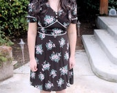 Vintage 1940s Inspired Love Note Dress