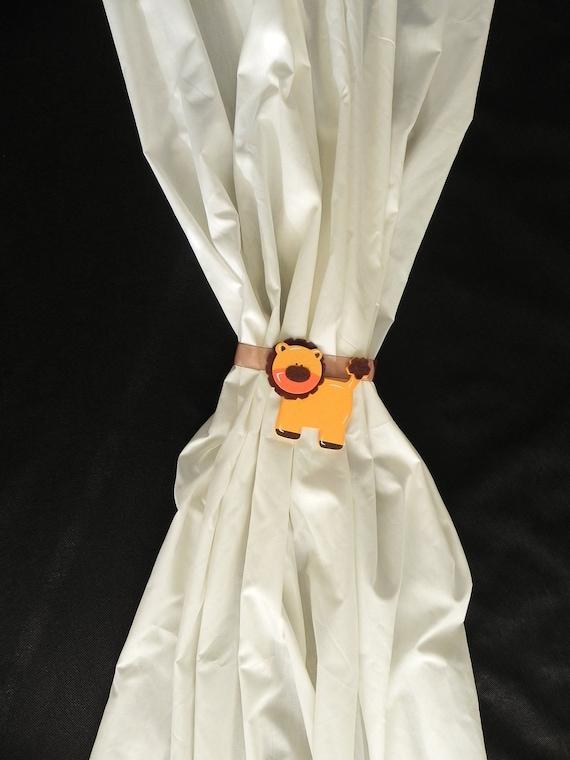 Curtain Tiebacks - Drape Holdbacks - Baby Shower Gift - Noahs Ark Decor - Safari Nursery - SwagMags(TM)-Magnetic Tiebacks - SINGLE