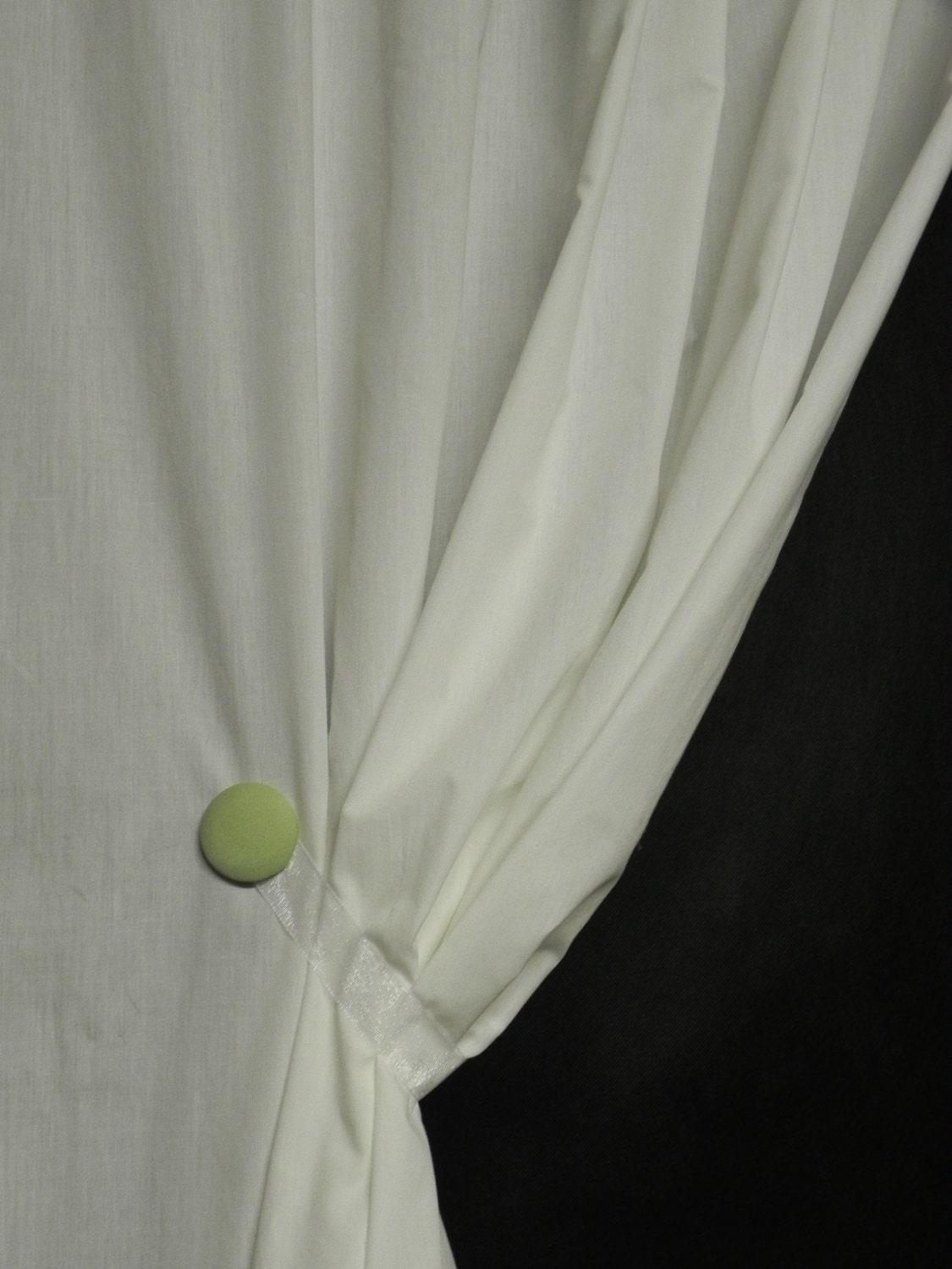 Curtain TiebacksGreen ApplePolka by SwagMags on Etsy
