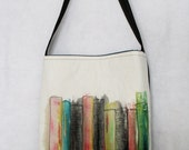 City Scape Tote Bag - Hand Painted and Free Motion Quilted