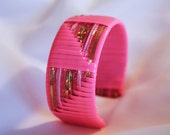 Metallic Gold and Pink Cuff