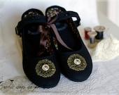 Unique, limited edition time traveller's shoes, size 7 UK / 40EU