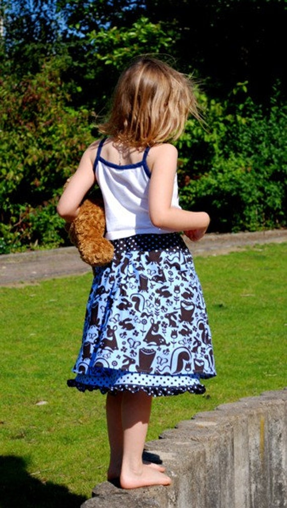 Two Ply Skirt,Girl,Menagerie,5 -7