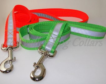 Reflective Safety Leashes - over 25 colors - any length