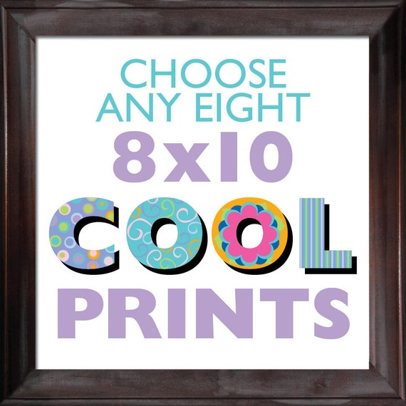 Choose ANY (8) EIGHT 8x10 Children's Art Prints from COOLISART- Multiple Print Discount