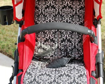 Personalized Reversible Stroller Pad Liner  Britax-B Ready   - - - Made to Order - - -
