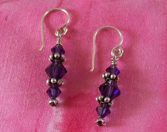 Swarovski crystal bicone earrings